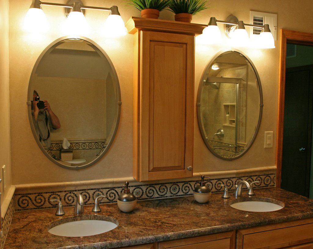 brown-granite-with-tan-cabinets